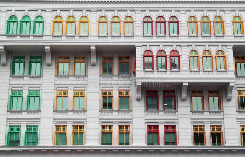 Singapore GLIMMERbyggnad arkivfoto