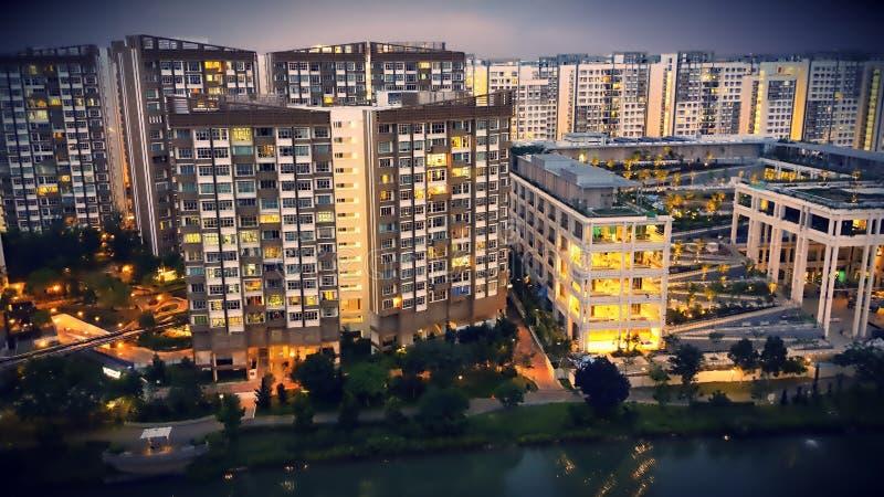Singapore HDB & x28; Housing& pubblico x29; immagini stock libere da diritti