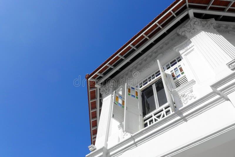 Singapore heritage shop house facade stock photos