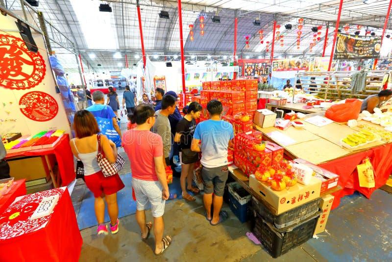 Singapore: Het Chinese Maannieuwjaar winkelen stock foto's