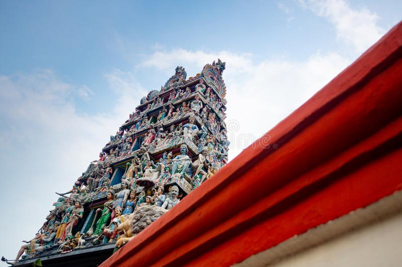 Singapore hindu temple royalty free stock photography