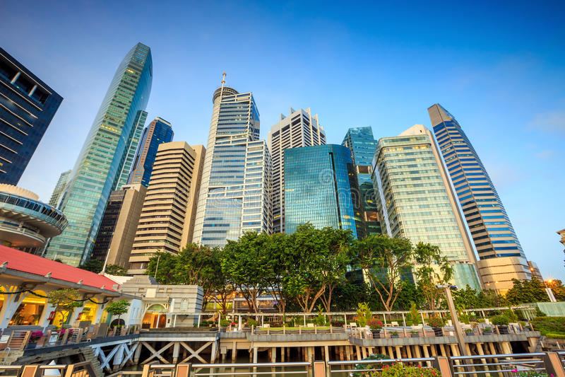singapore horisont royaltyfria foton