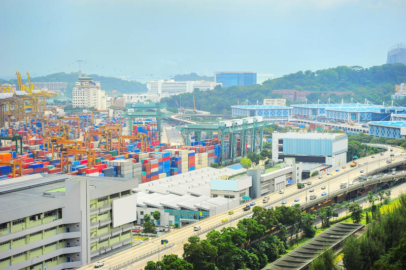 Singapore industrial suburb royalty free stock image