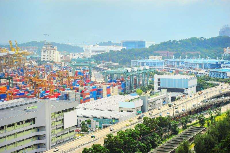 Singapore industriell förort royaltyfri bild