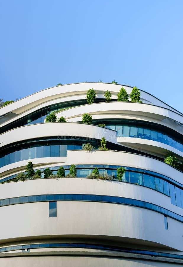 Singapore-07 JANUARI 2019: Fasad för byggnad för högkvarter för Singapore brödsamtal royaltyfria bilder