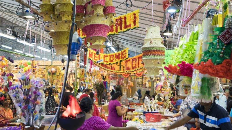 Visitors at Little India market Singapore royalty free stock image