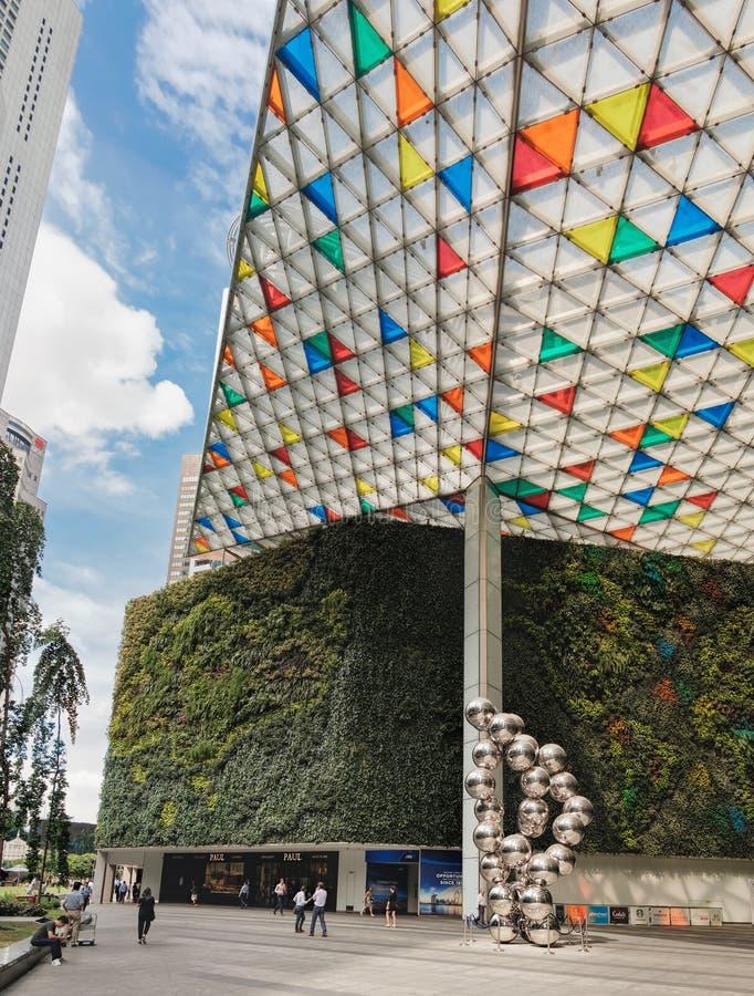 Ocean Financial Centre in Singapore stock photos