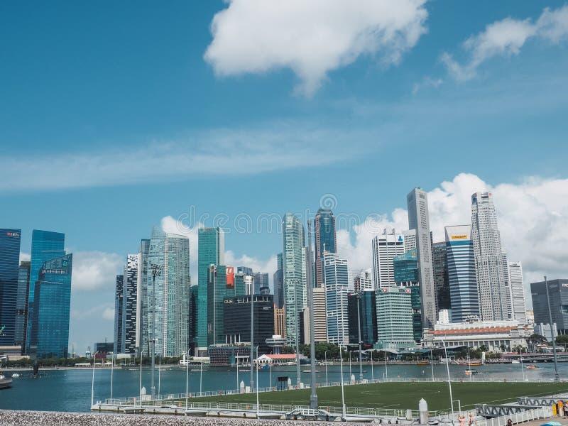 SINGAPORE - JULI 9, 2019 royaltyfri bild