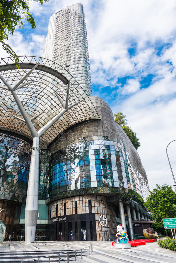 SINGAPORE - JUNE 18 : Day view of ION Orchard shopping mall onJUNE 18, 2014 in Singapore Orchard Road stock image