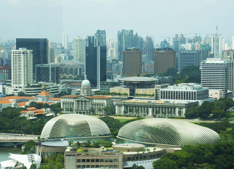 Download Singapore linia horyzontu obraz stock editorial. Obraz złożonej z landmark - 13342639