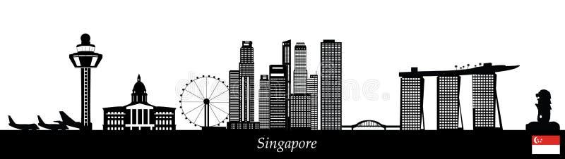 singapore linia horyzontu royalty ilustracja