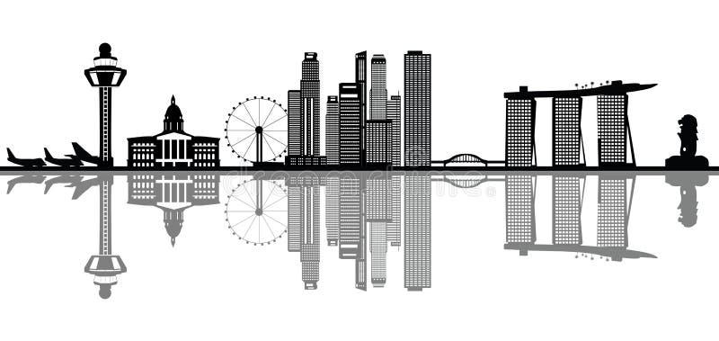 singapore linia horyzontu ilustracji