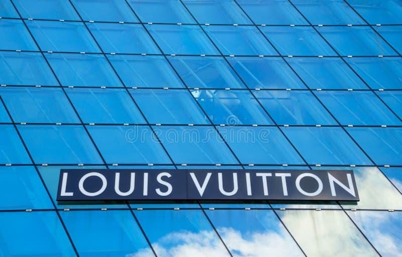 SINGAPORE 11 LUGLIO 2016: La costruzione futuristica di Louis Vuitt fotografie stock