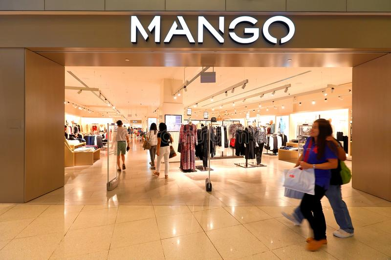 Singapore : Mango retail store. Mango retail store at Vivocity Singapore royalty free stock photos