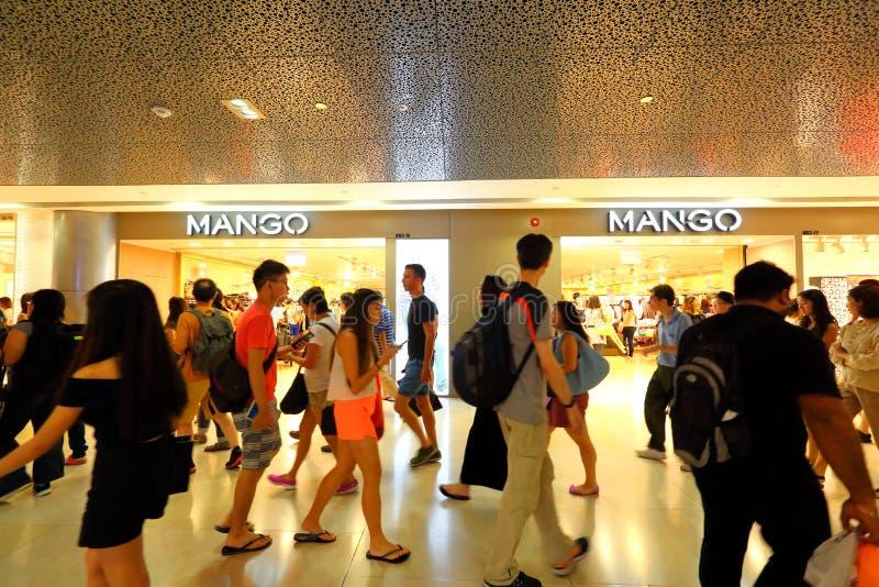 Singapore: Mangoopslag royalty-vrije stock fotografie