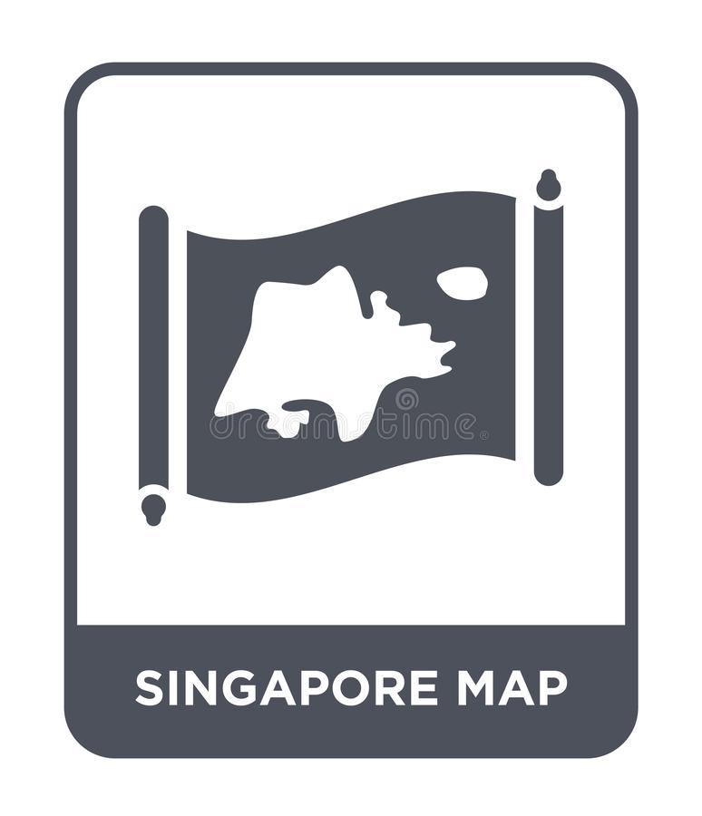 Singapore map icon in trendy design style. singapore map icon isolated on white background. singapore map vector icon simple and. Modern flat symbol for web stock illustration