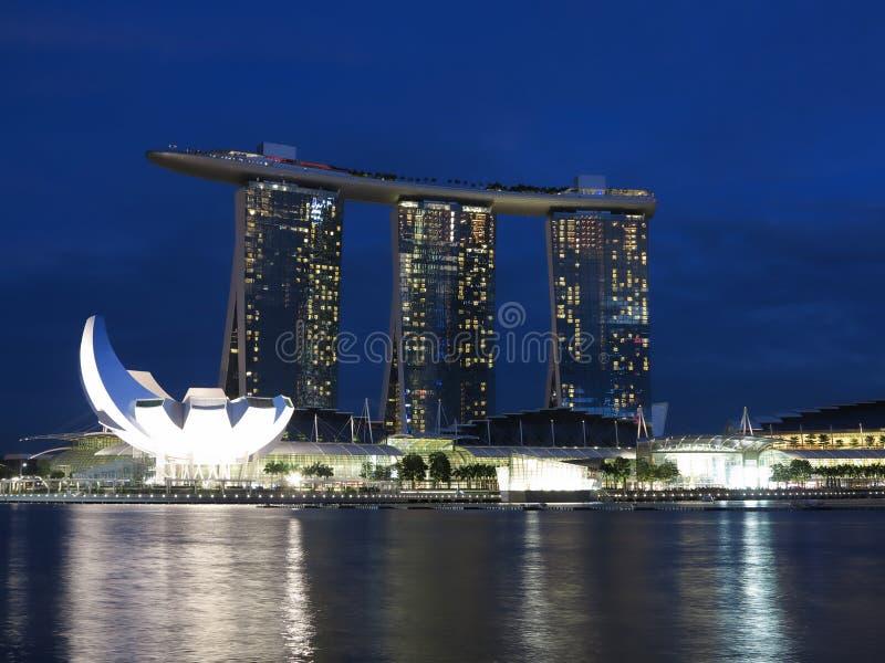 Singapore Marina Bay Sands Hotel Stock Images