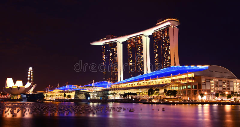 Download Singapore Marina Bay Sands By Night Stock Image - Image: 17529909