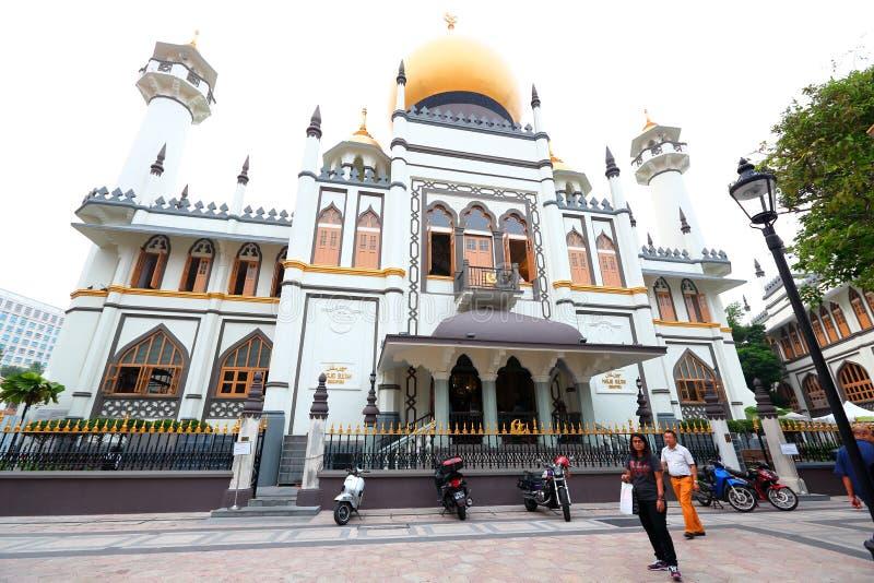 Singapore:Masjid Sultan Singapura Mosque stock photos