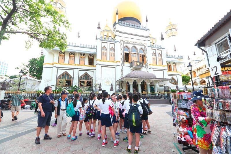 Singapore:Masjid Sultan Singapura Mosque royalty free stock photography