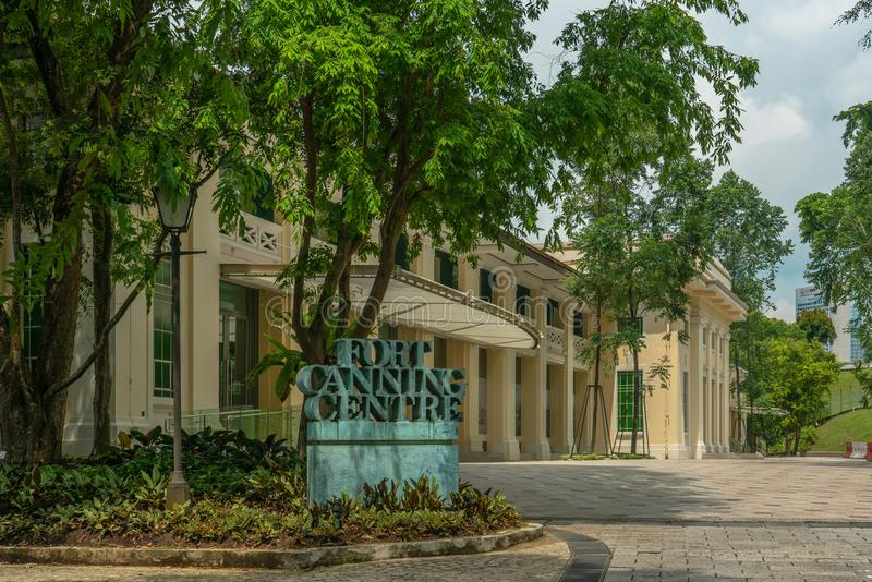 Singapore - May 21, 2018: Fort Canning centre stock photography