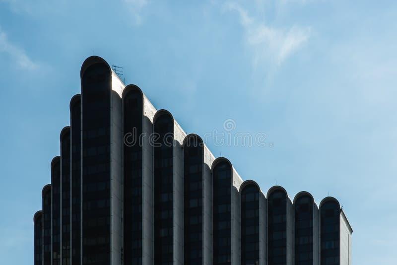 SINGAPORE-MAY 01 2017: Furama city building center skyline royalty free stock images