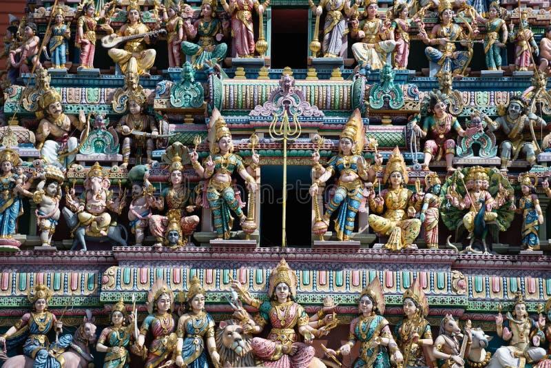 Sri Veeramakaliamman Temple Famous Hindu temple of Singapore. Singapore - May 16, 2018 : Sri Veeramakaliamman Temple Famous Hindu temple in little India of stock photography