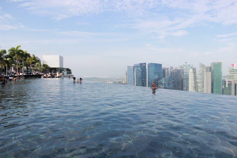 Singapore, mening van de pool in Marina Bay Sands royalty-vrije stock foto