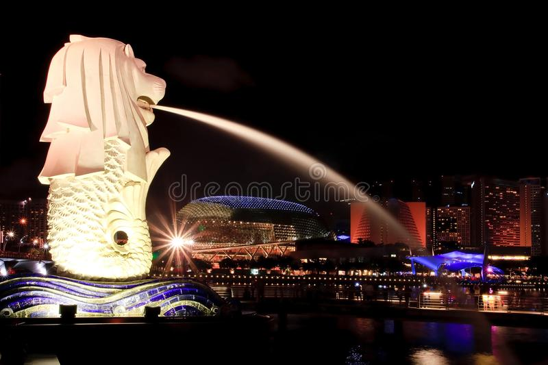 Singapore Merlion imagem de stock