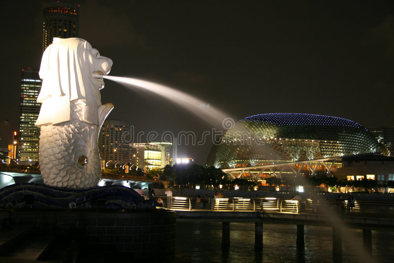 Singapore Merlion stock image