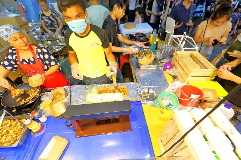 Singapore: Nachtmarkt Pasar Malam royalty-vrije stock foto