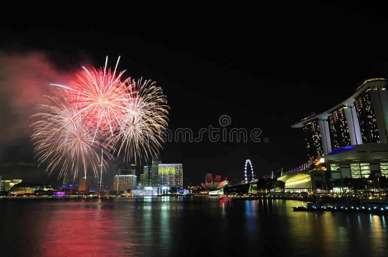 Download Singapore National Day 2012 Fireworks Stock Image - Image: 26636963