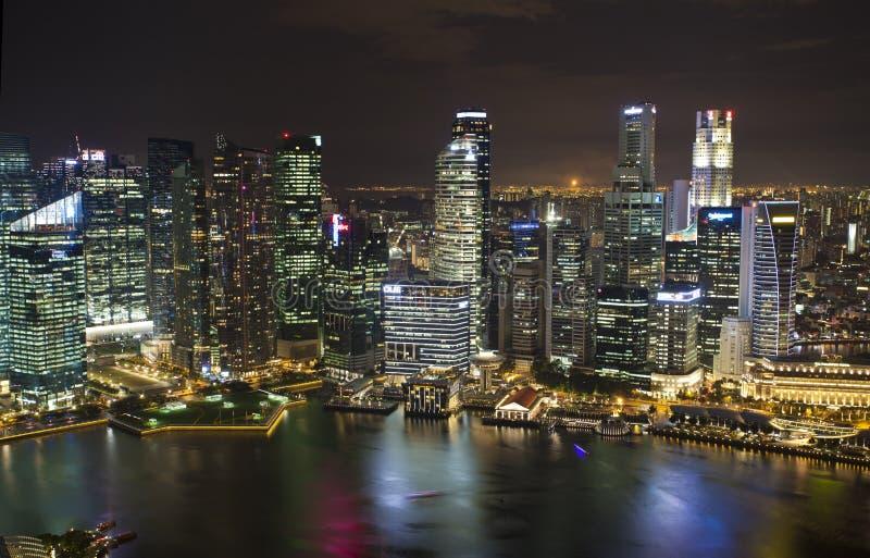 Singapore nattsikt arkivfoton