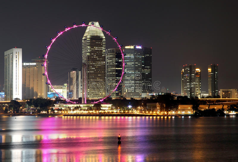 SINGAPORE NIGHT 1 royalty free stock photo