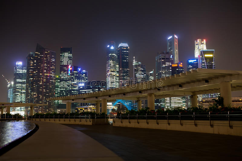 Download Singapore at Night editorial photography. Image of high - 24263377