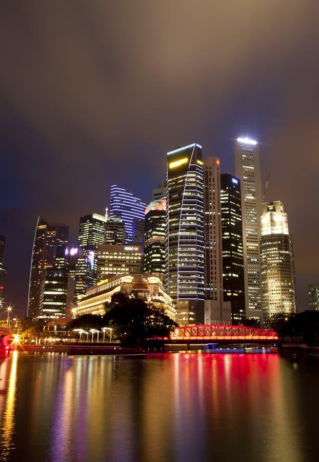 Singapore Night Cityscape stock images
