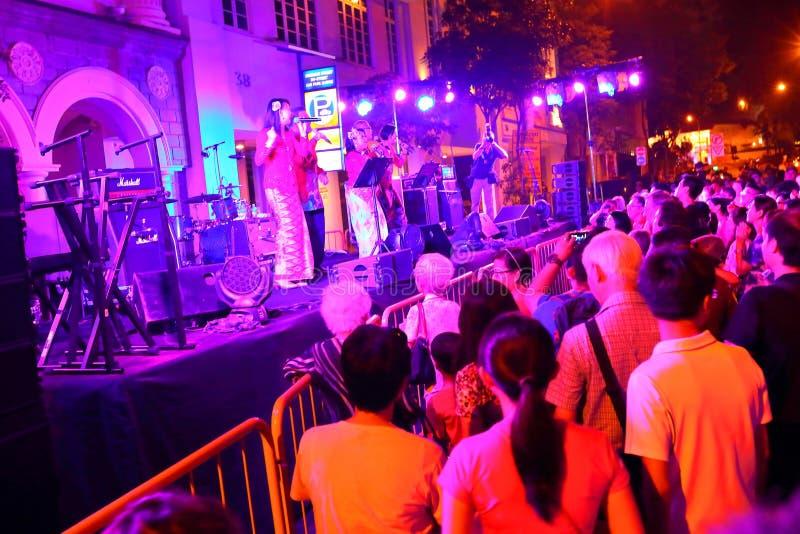 Singapore night festival royalty free stock photos