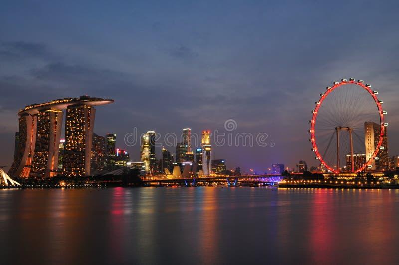 Download Singapore Night Scenery stock photo. Image of marina - 26637326