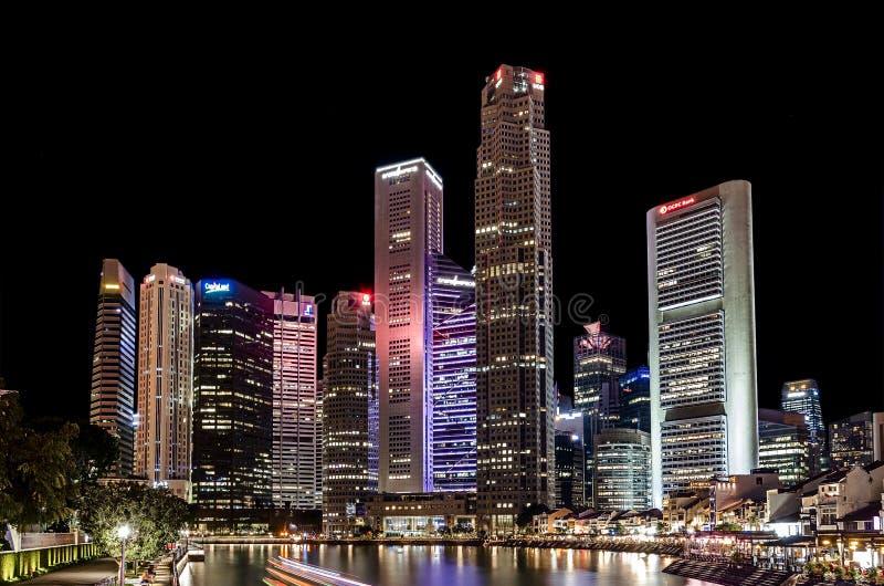 Singapore noc obrazy stock