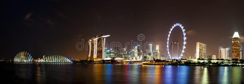 Singapore noc zdjęcie stock