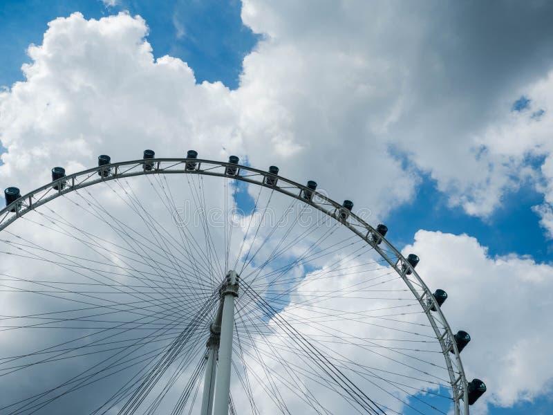 SINGAPORE - NOV 24, 2018: Singapore flyer ferris wheel in Singapore.  stock photos