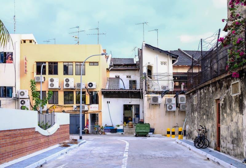 Singapore-25 NOV 2017:Singapore Geylang area vintage street day view stock photo