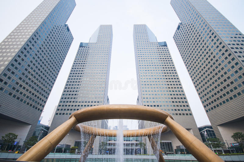SINGAPORE, OCTOBER 13, 2015: fountain of wealth have been record royalty free stock photo