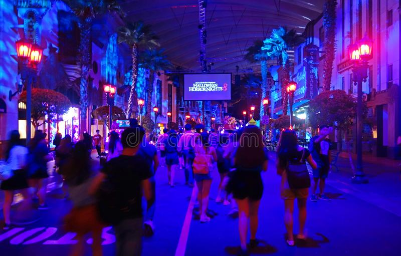 SINGAPORE - 16 OCTOBER 2018 : Universal Studio Halloween Horror Night 8th event, this festival opening at nights of October to cha. A SINGAPORE - 16 OCTOBER 2018 royalty free stock photos