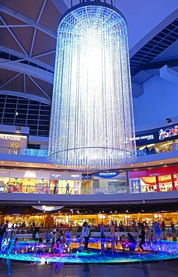 SINGAPORE, 14 Oktober 2018: Winkelcomplex in Marina Bay Sands Resort in Singapore één van de grootste dure luxe s van Singapore stock fotografie