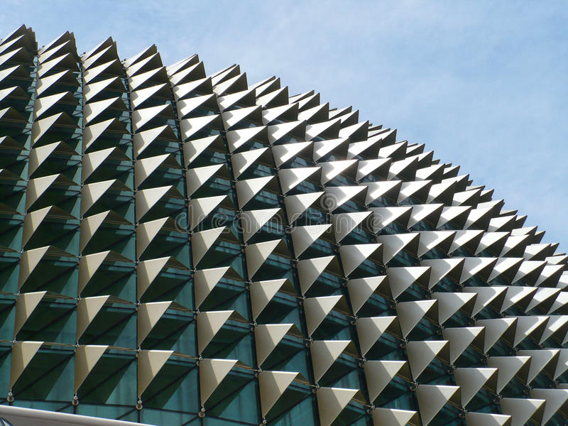Singapore Opera House Roof Structure stock photo