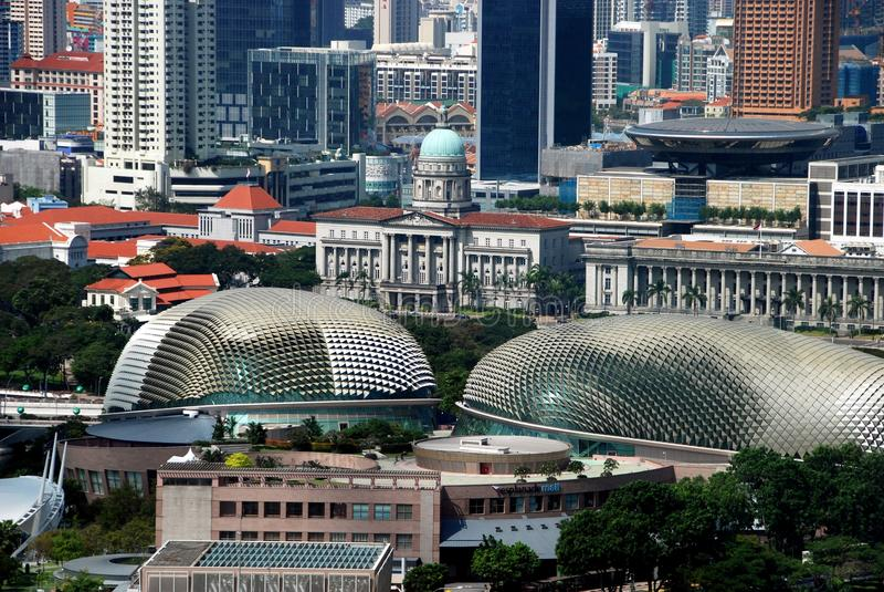 Singapore: Opinião da cidade do insecto de Singapore foto de stock royalty free