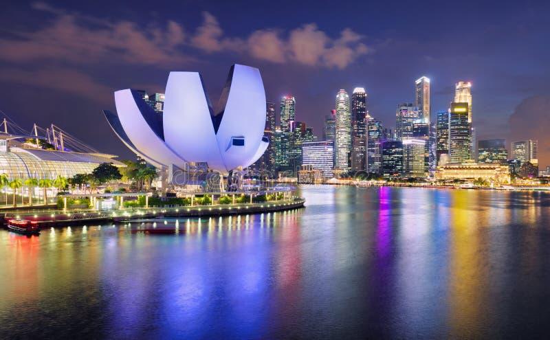 Singapore panorama skyline at night, Marina bay royalty free stock photo