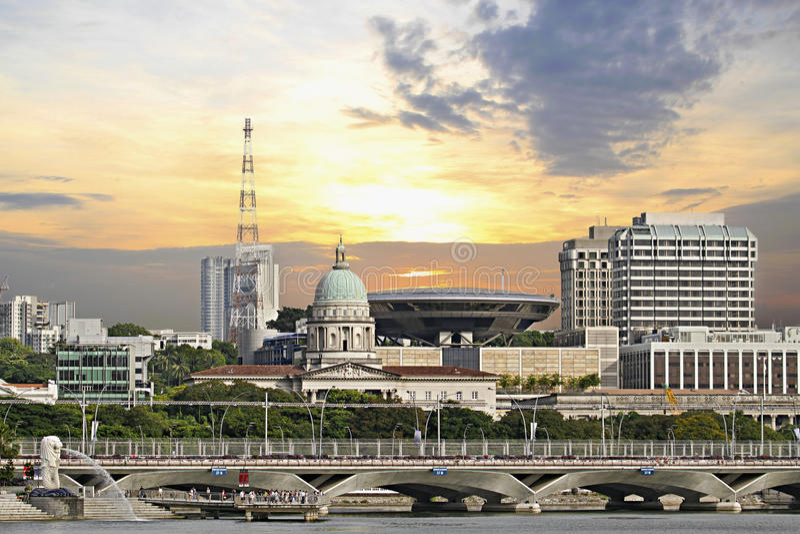 Singapore Parliament Building Supreme Court royalty free stock photos
