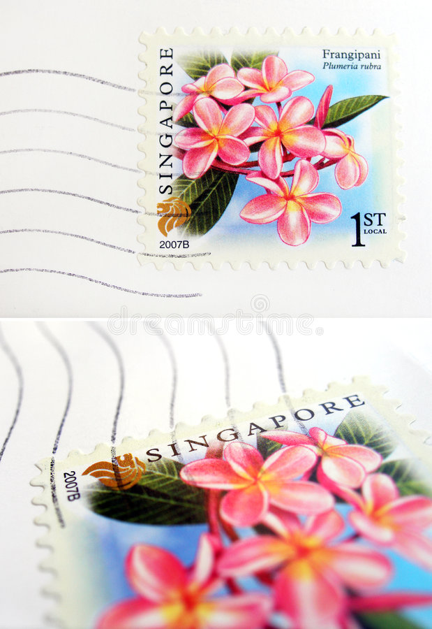 Singapore postage stamp royalty free stock photography